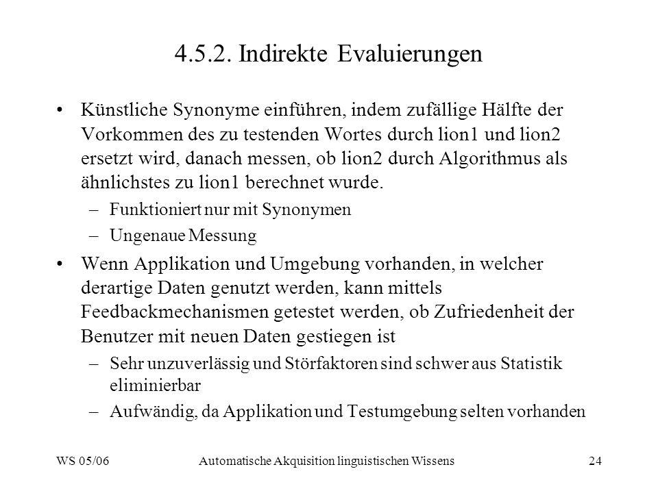 4.5.2. Indirekte Evaluierungen