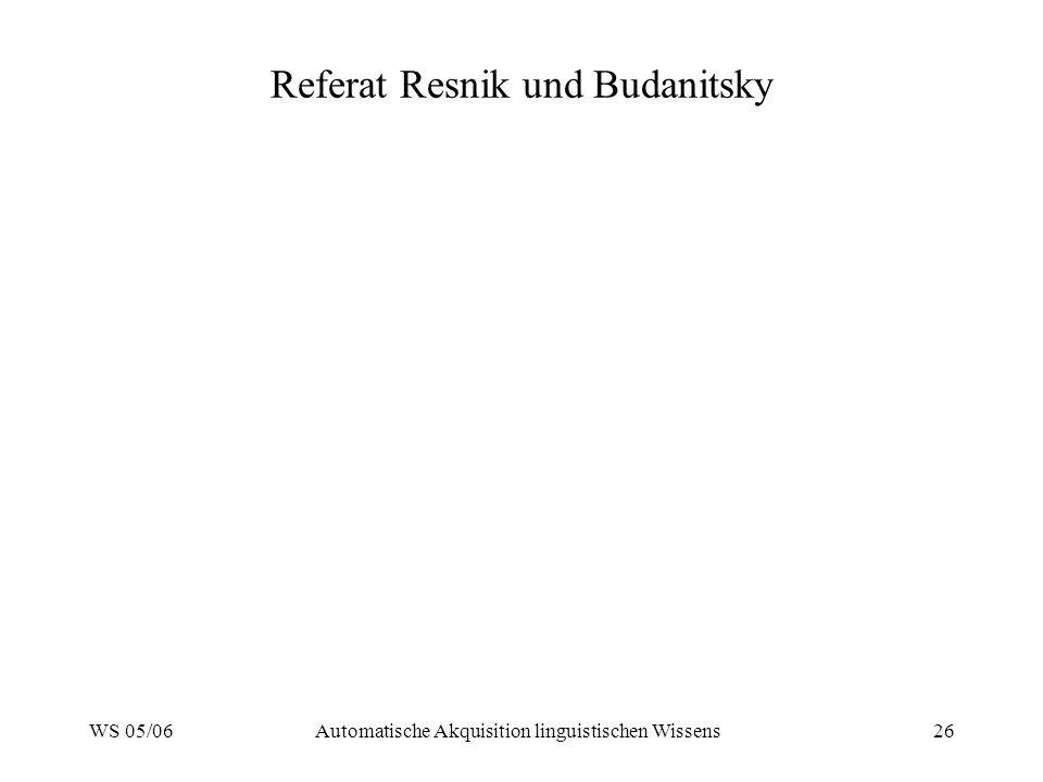 Referat Resnik und Budanitsky