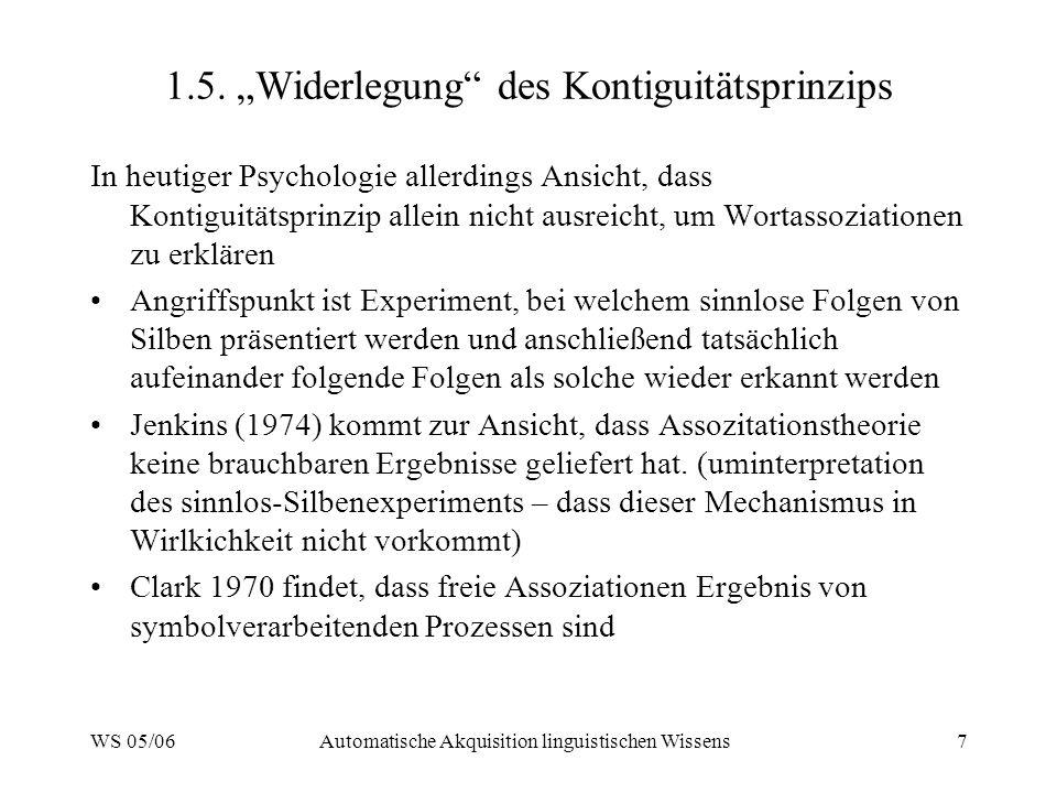 """1.5. """"Widerlegung des Kontiguitätsprinzips"""