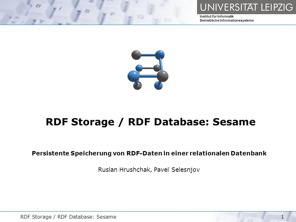 RDF Storage / RDF Database: Sesame