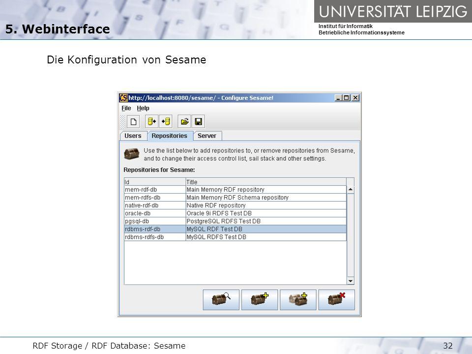 5. Webinterface Die Konfiguration von Sesame