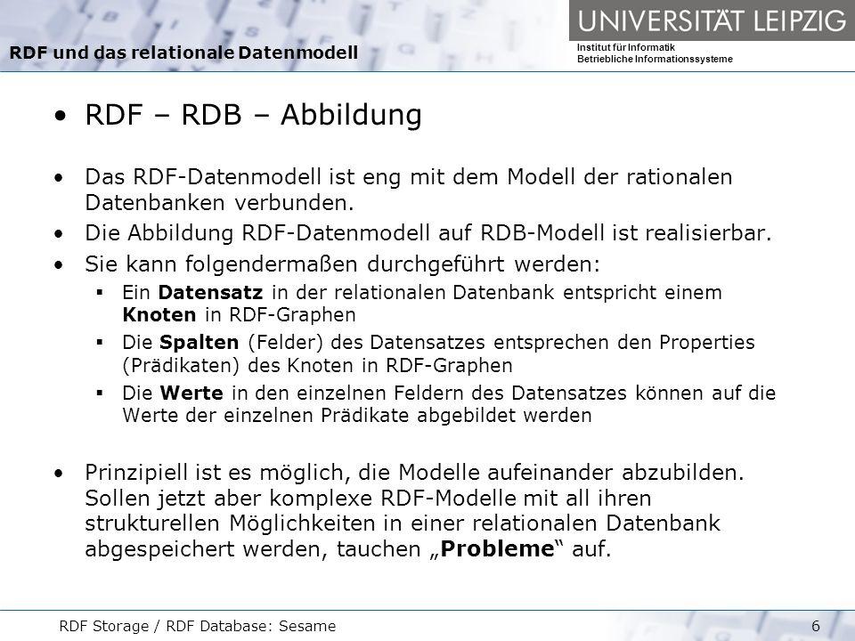 RDF und das relationale Datenmodell