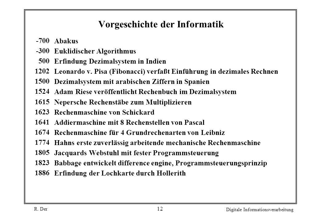 Vorgeschichte der Informatik
