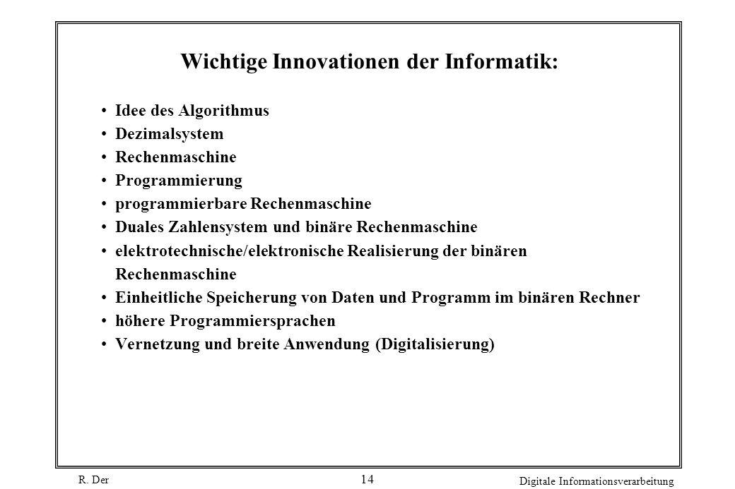 Wichtige Innovationen der Informatik:
