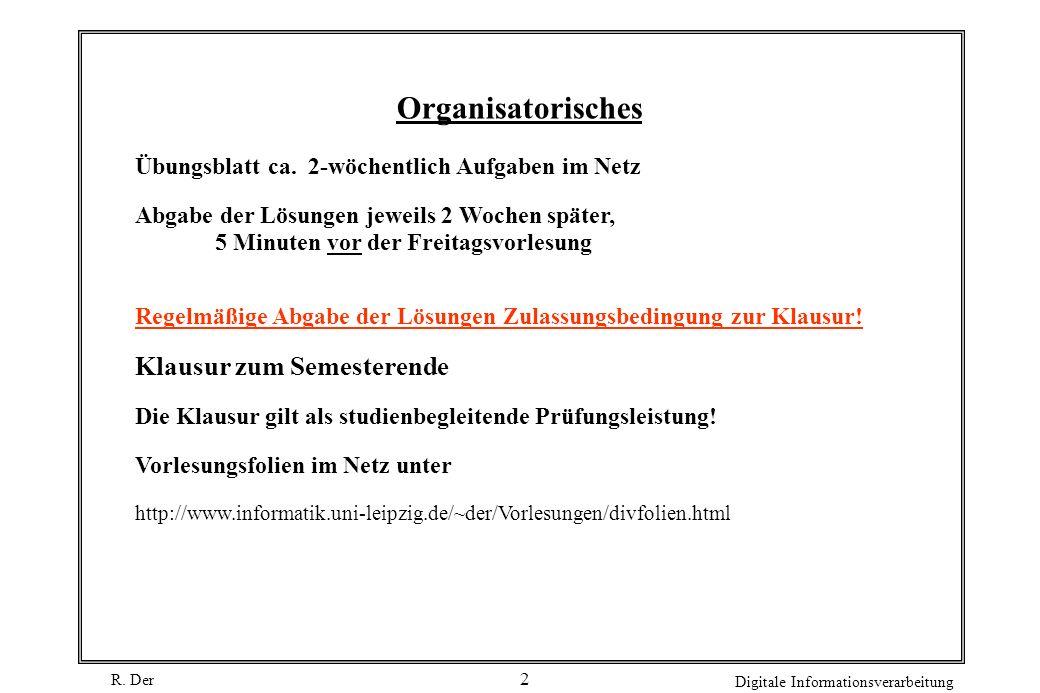 Organisatorisches Klausur zum Semesterende