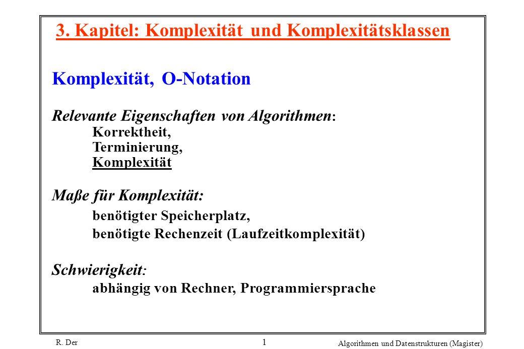 3. Kapitel: Komplexität und Komplexitätsklassen