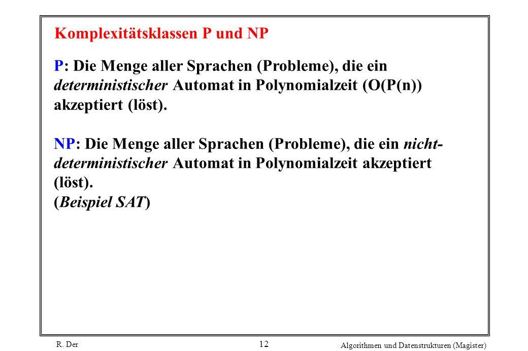 Komplexitätsklassen P und NP