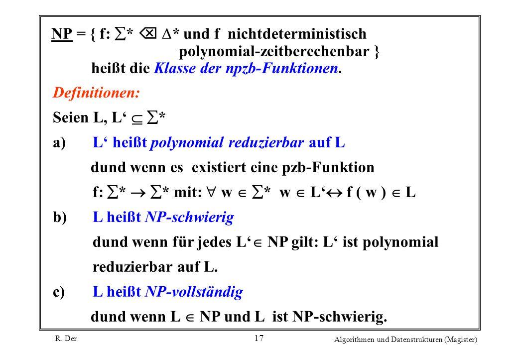 NP = { f: .  . und f nichtdeterministisch