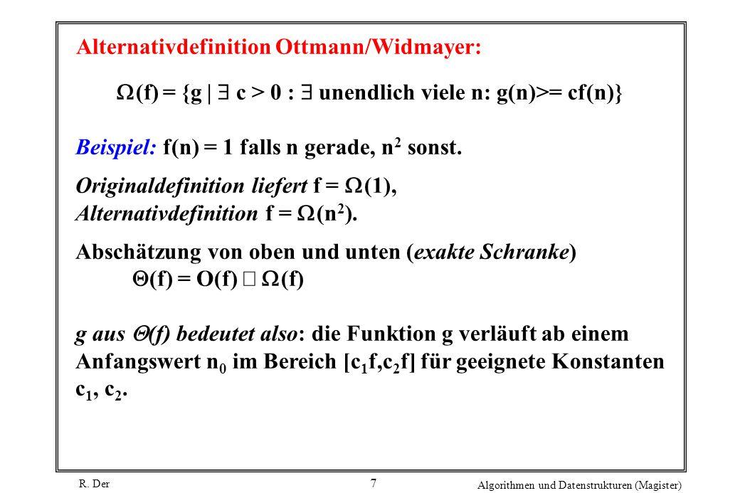 Alternativdefinition Ottmann/Widmayer: