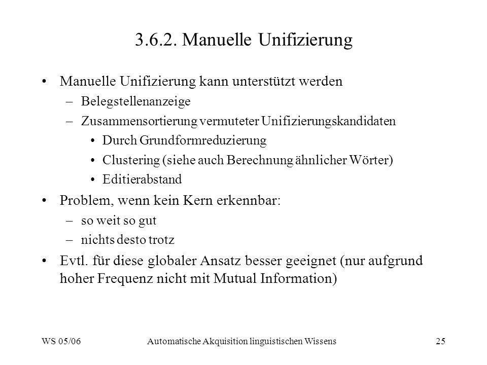 3.6.2. Manuelle Unifizierung