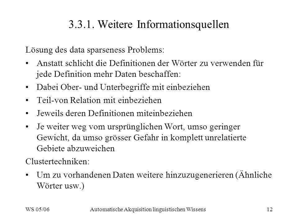 3.3.1. Weitere Informationsquellen