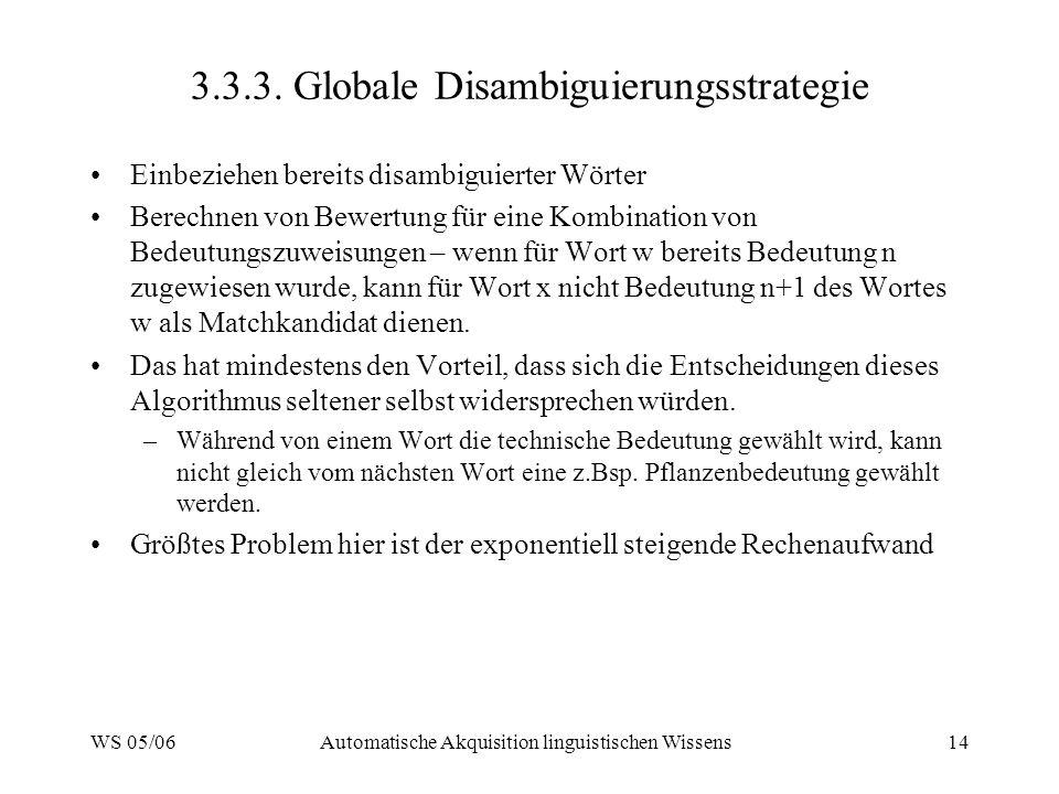 3.3.3. Globale Disambiguierungsstrategie