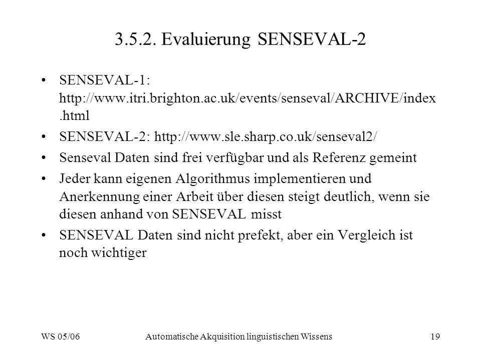 3.5.2. Evaluierung SENSEVAL-2