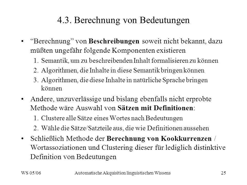 4.3. Berechnung von Bedeutungen