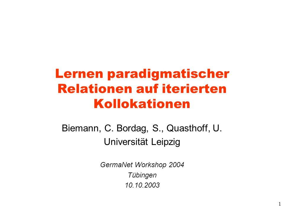 Lernen paradigmatischer Relationen auf iterierten Kollokationen