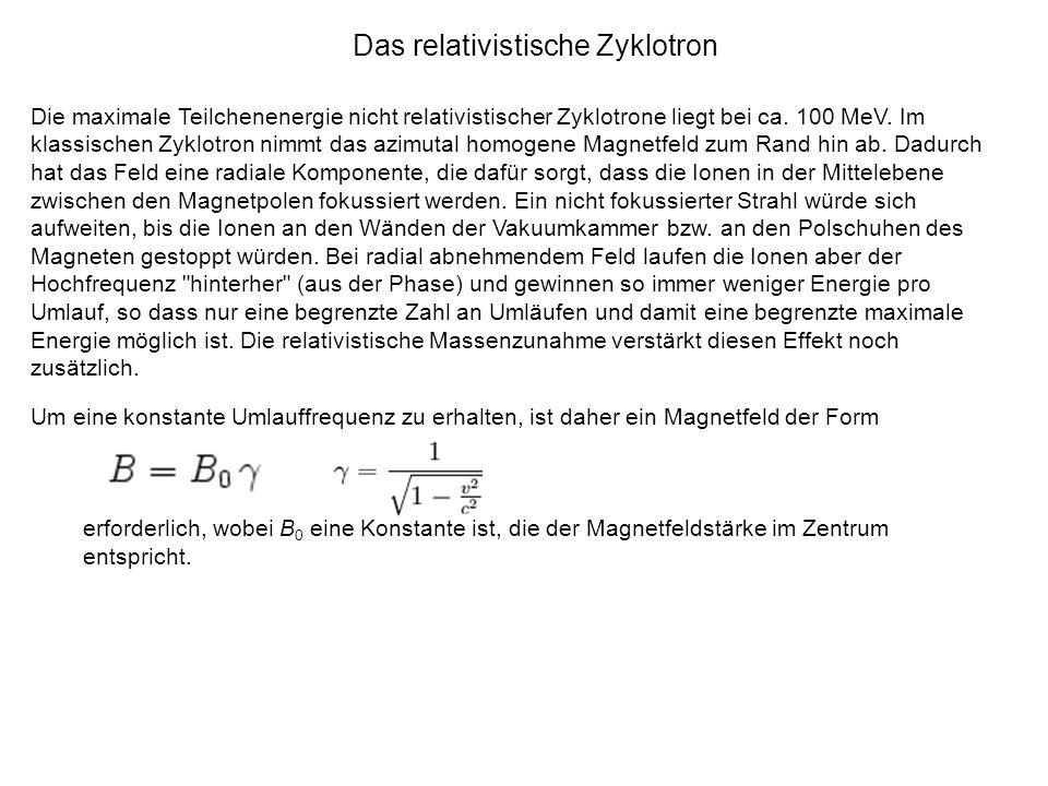 Das relativistische Zyklotron