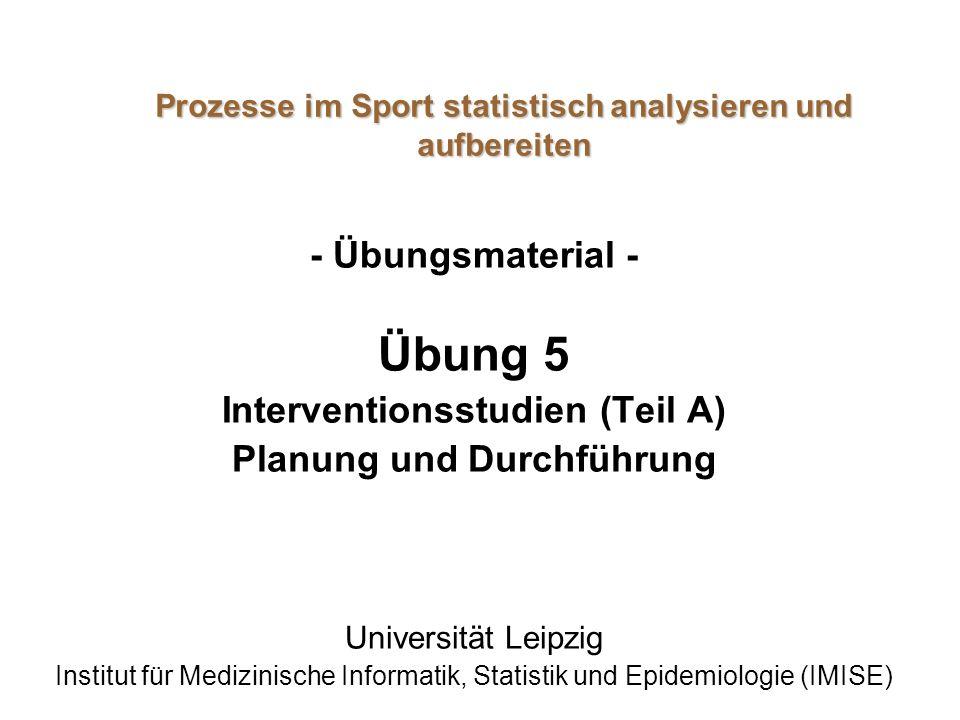 Prozesse im Sport statistisch analysieren und aufbereiten