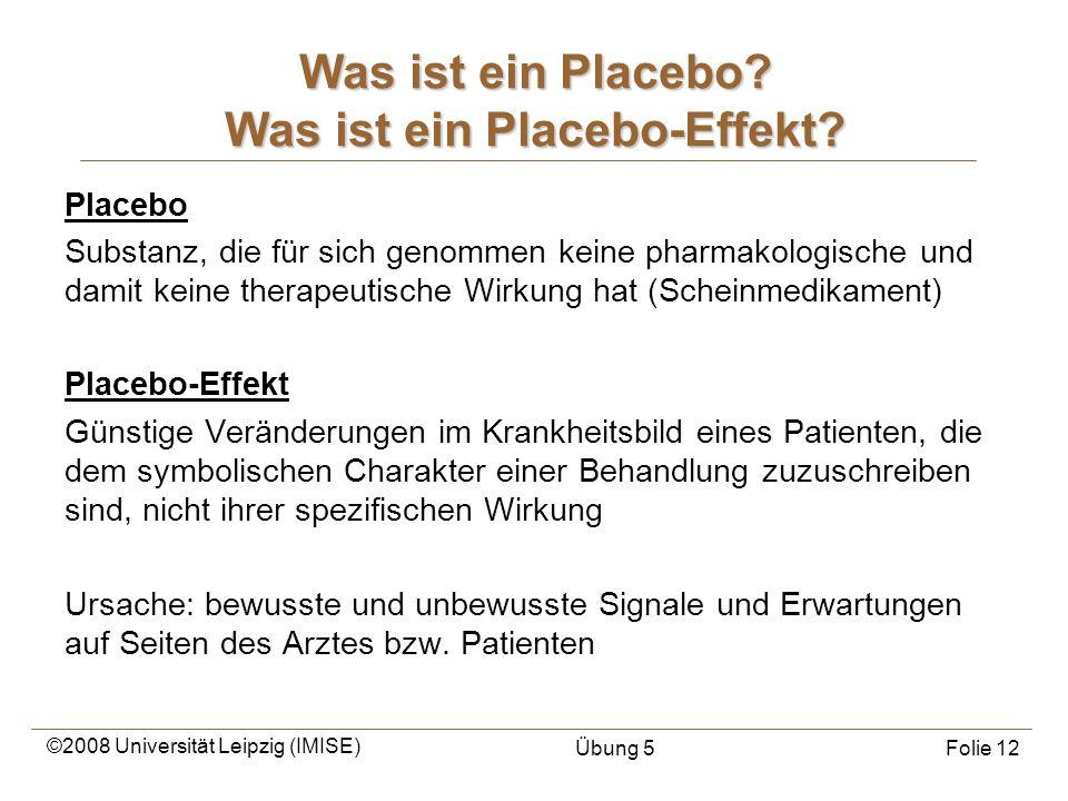 Was ist ein Placebo Was ist ein Placebo-Effekt