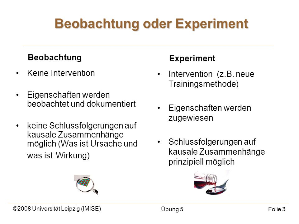 Beobachtung oder Experiment