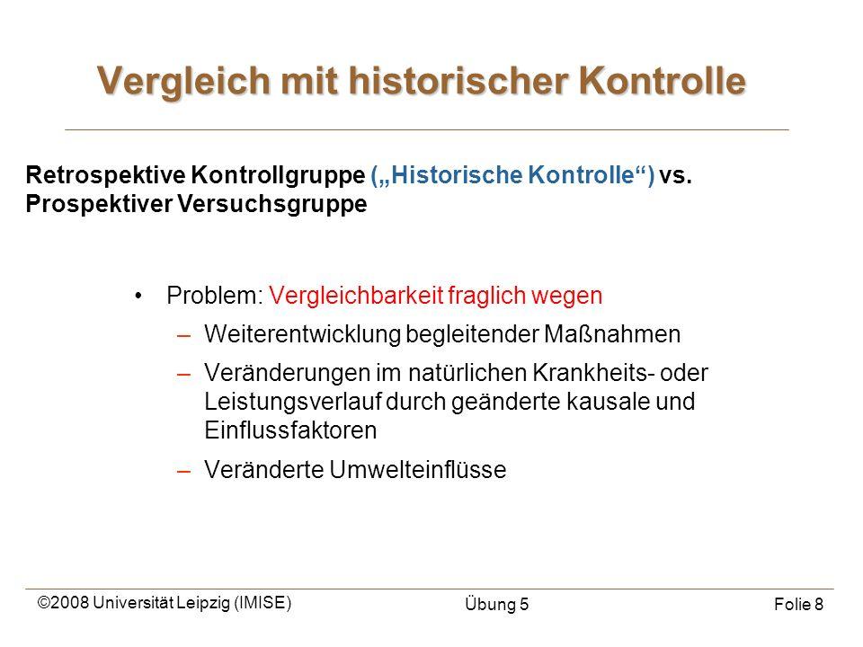 Vergleich mit historischer Kontrolle