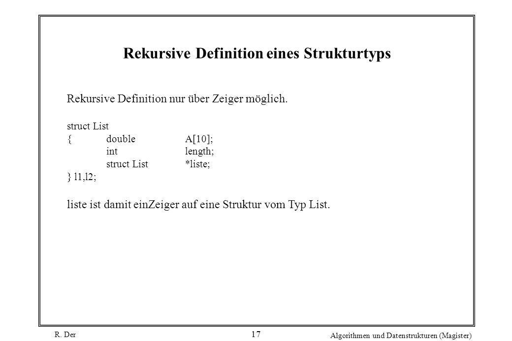 Rekursive Definition eines Strukturtyps