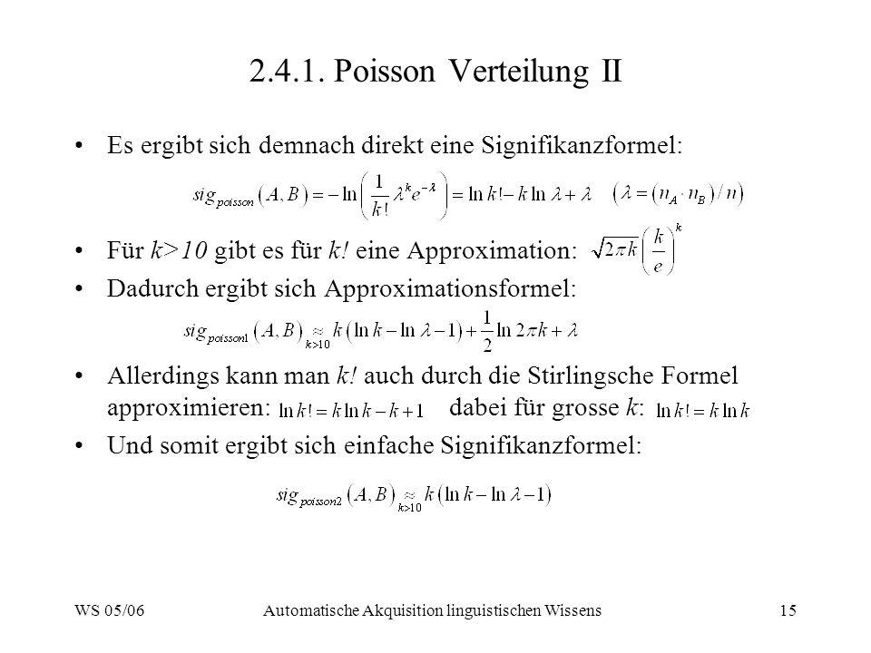Automatische Akquisition linguistischen Wissens