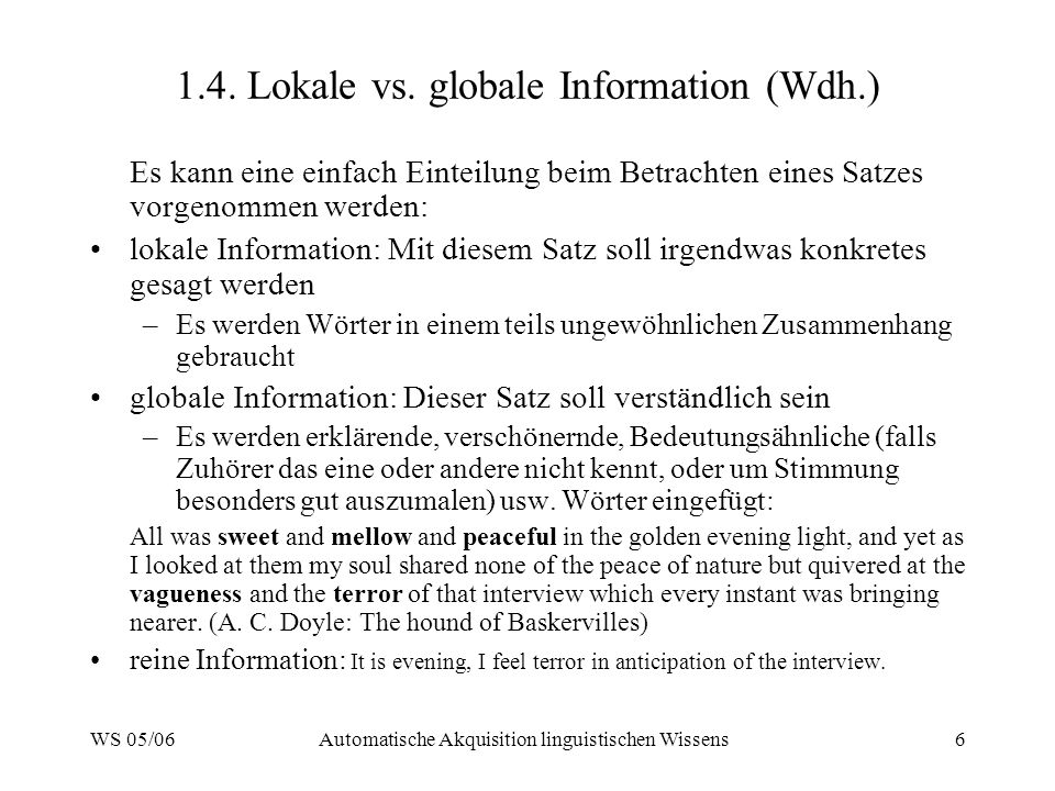 1.4. Lokale vs. globale Information (Wdh.)