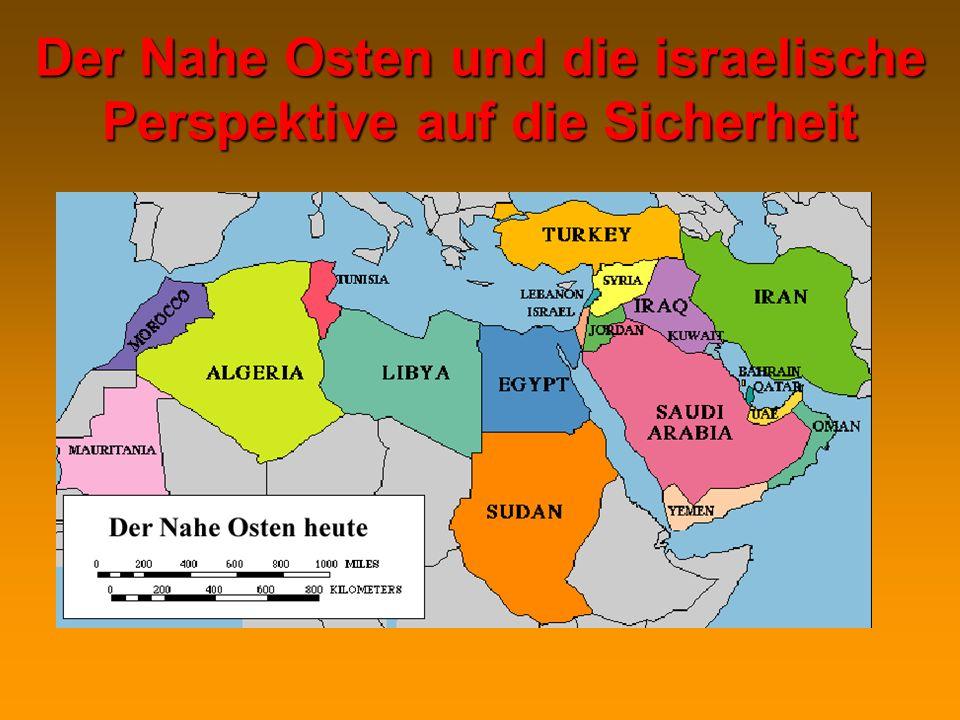 Der Nahe Osten und die israelische Perspektive auf die Sicherheit