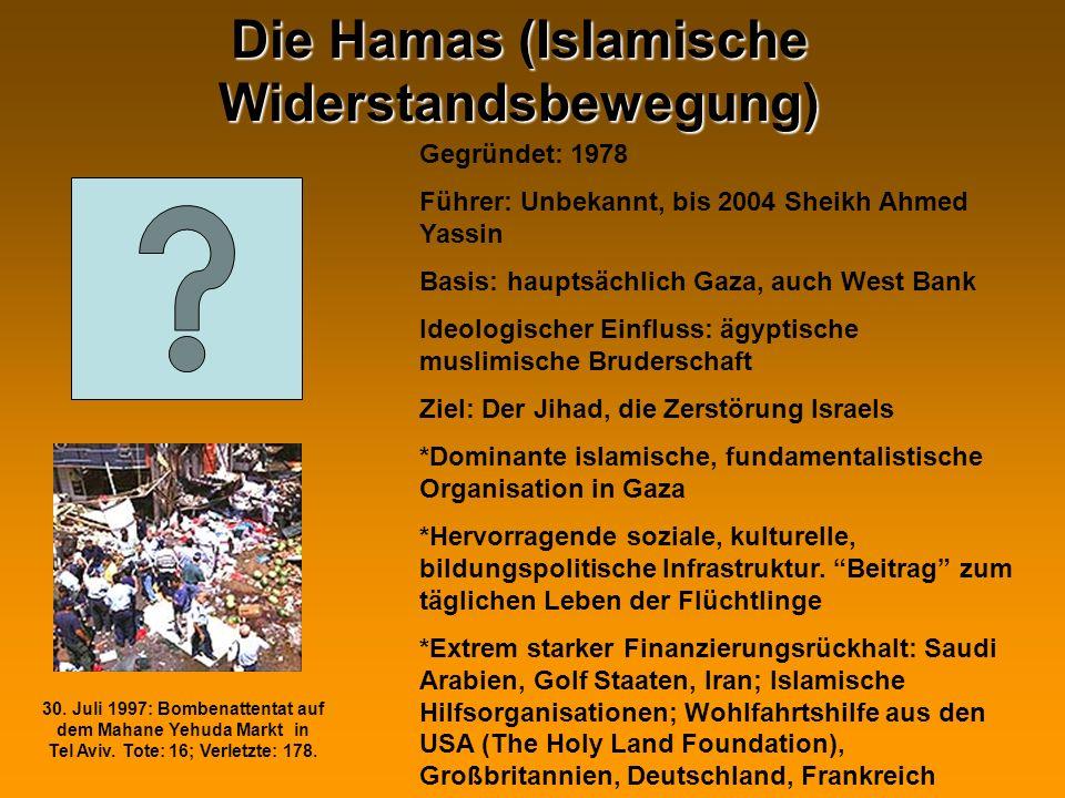 Die Hamas (Islamische Widerstandsbewegung)