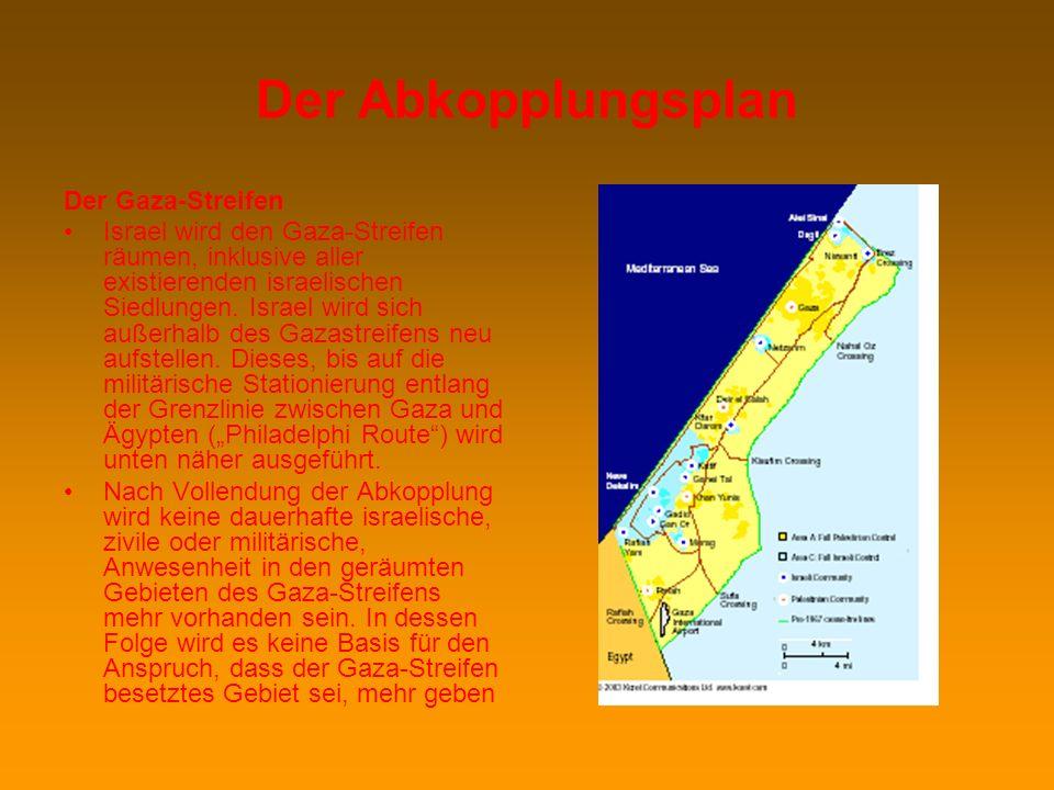 Der Abkopplungsplan Der Gaza-Streifen