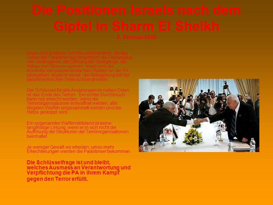 Die Positionen Israels nach dem Gipfel in Sharm El Sheikh 8