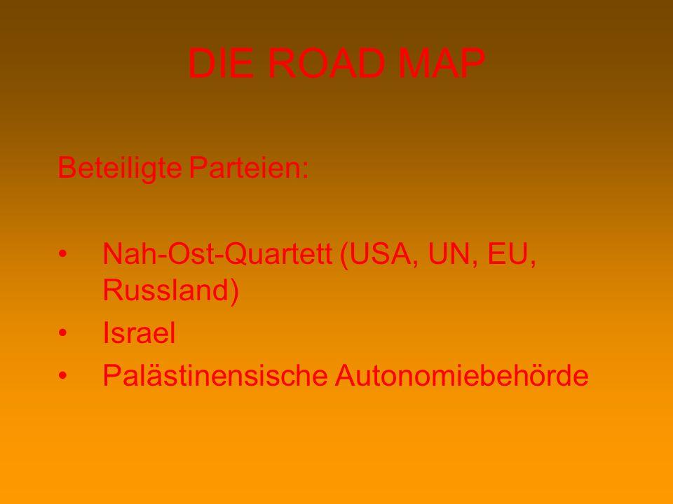 DIE ROAD MAP Beteiligte Parteien: