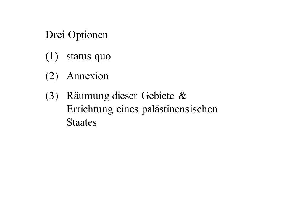 Drei Optionen status quo. Annexion.