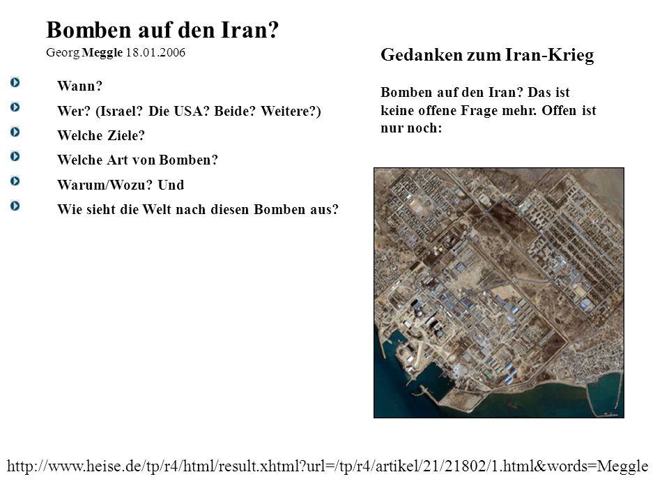 Bomben auf den Iran Gedanken zum Iran-Krieg
