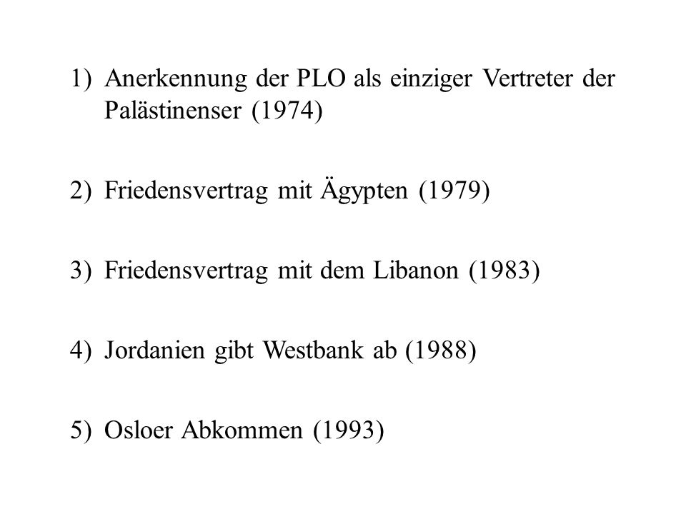 Anerkennung der PLO als einziger Vertreter der Palästinenser (1974)