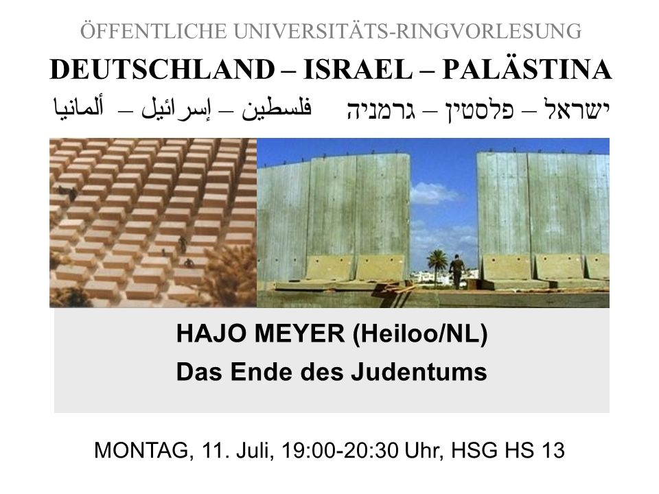 DEUTSCHLAND – ISRAEL – PALÄSTINA
