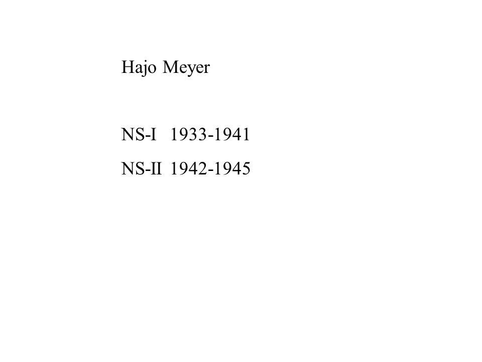 Hajo Meyer NS-I 1933-1941 NS-II 1942-1945