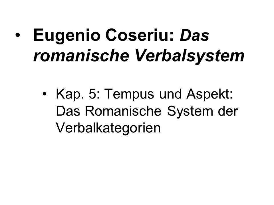 Eugenio Coseriu: Das romanische Verbalsystem