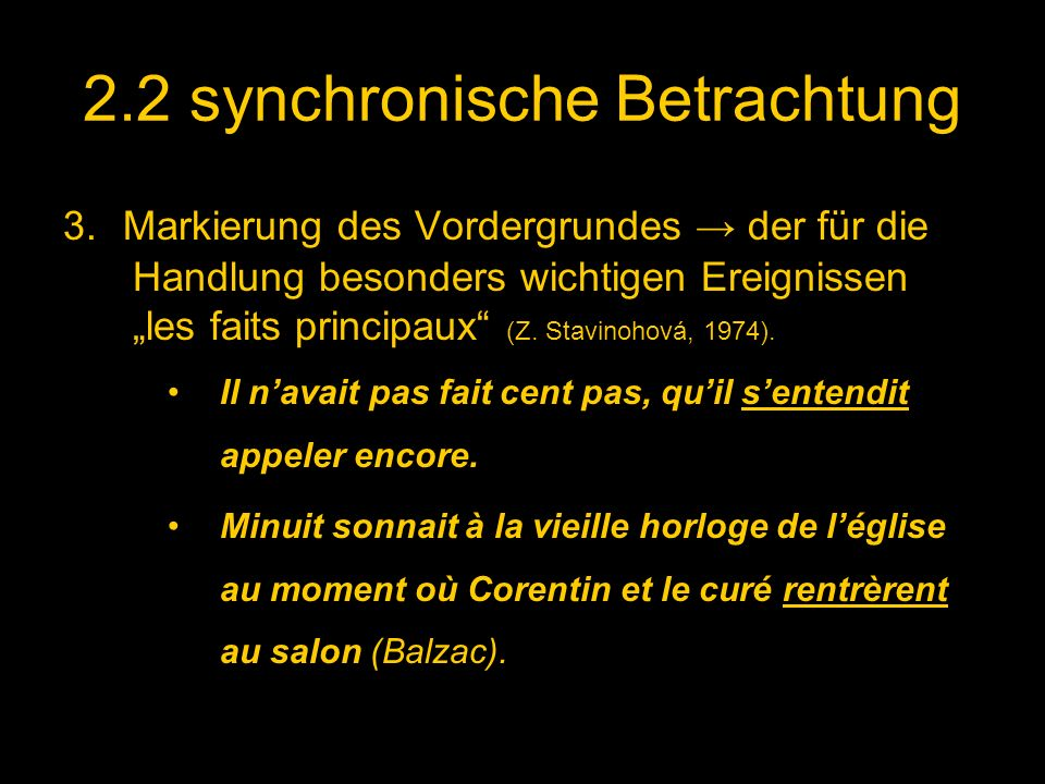 2.2 synchronische Betrachtung