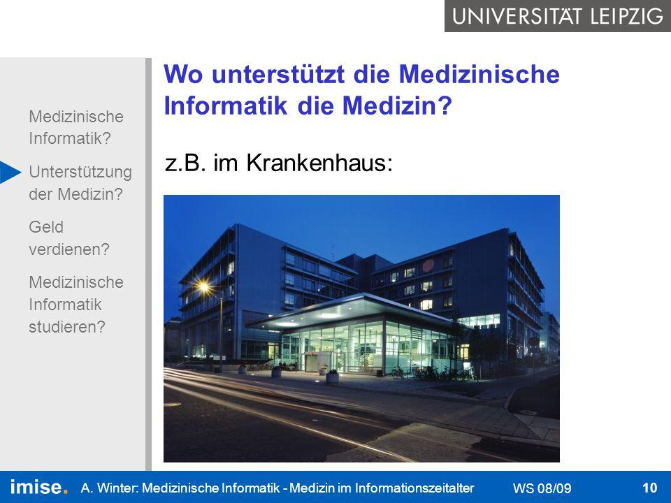 Wo unterstützt die Medizinische Informatik die Medizin