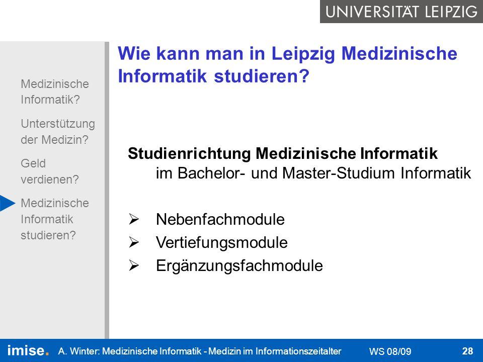 Wie kann man in Leipzig Medizinische Informatik studieren