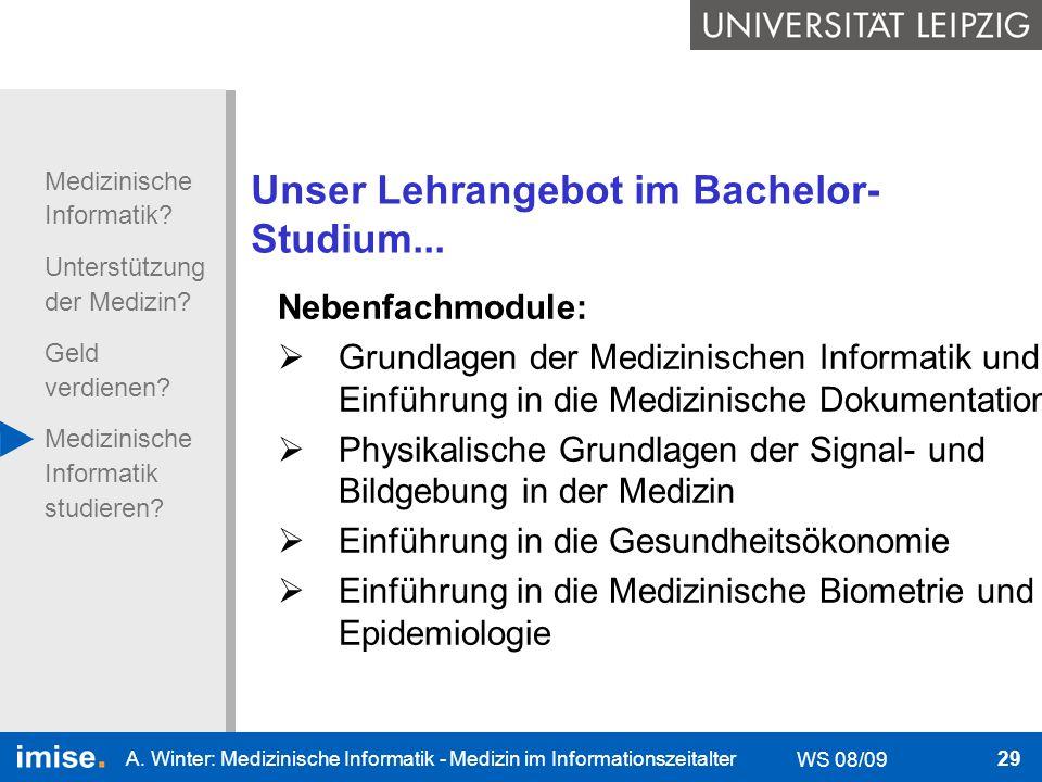 Unser Lehrangebot im Bachelor-Studium...