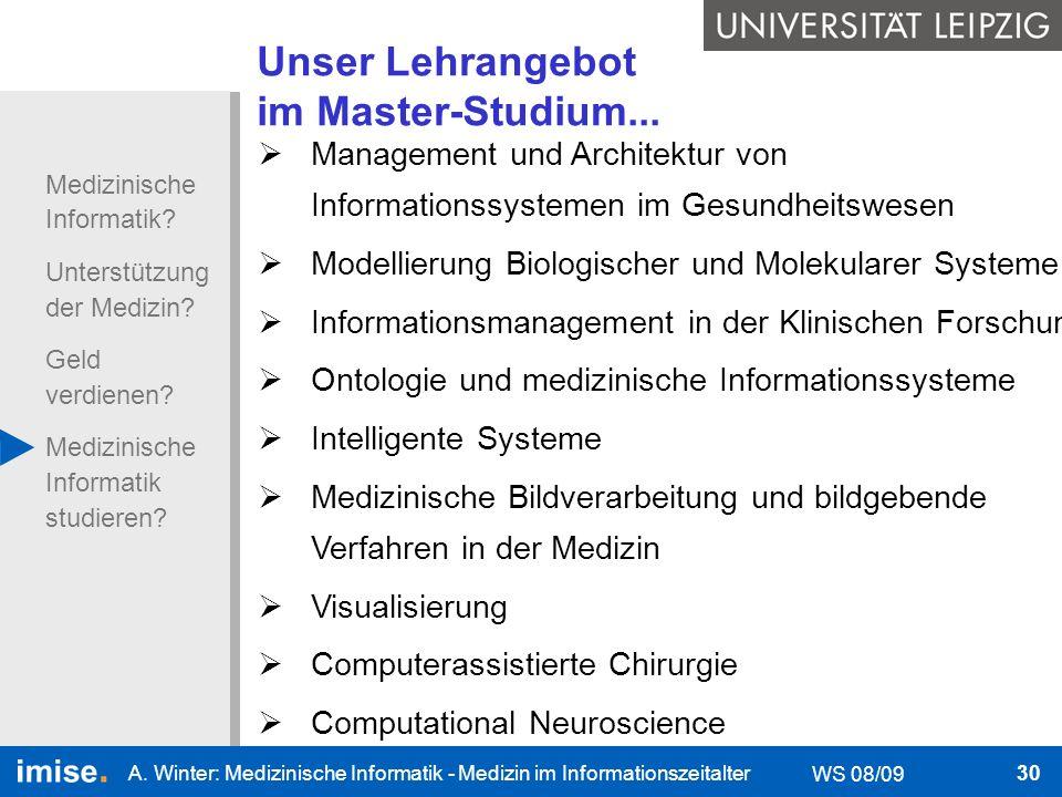 Unser Lehrangebot im Master-Studium...