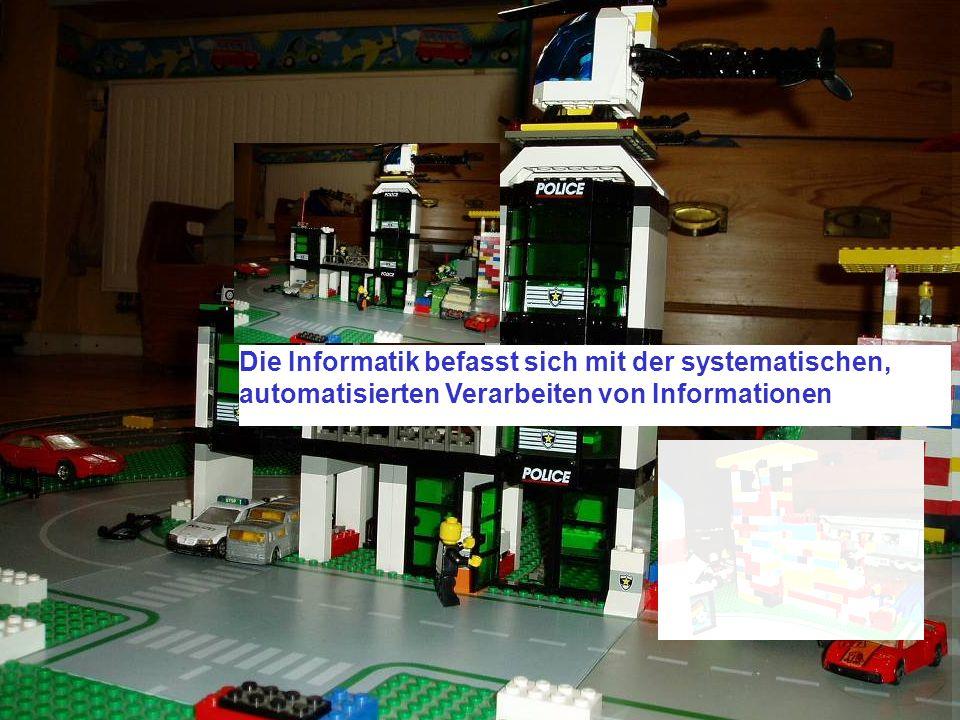 Was ist Informatik Die Informatik befasst sich mit der systematischen, automatisierten Verarbeiten von Informationen.