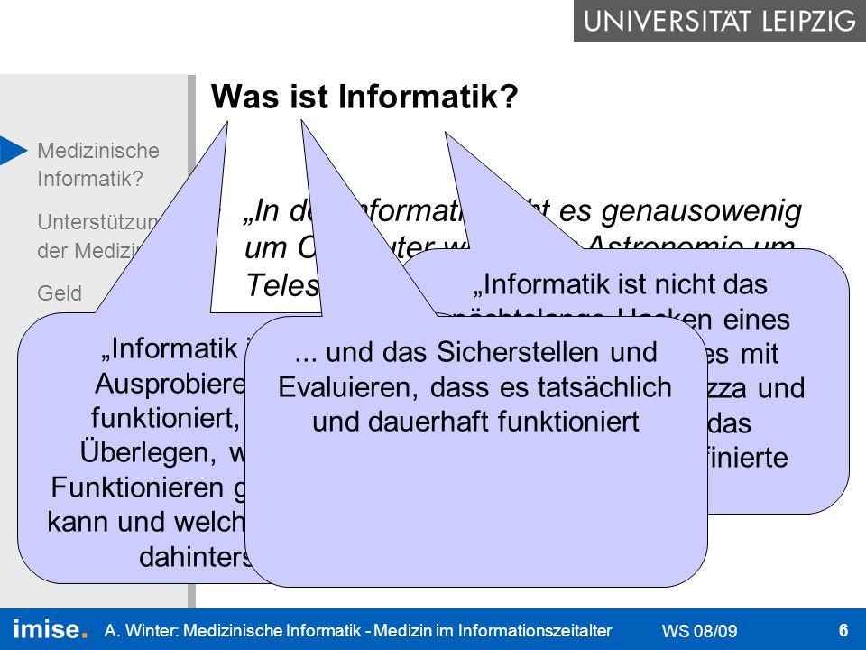 """Was ist Informatik """"In der Informatik geht es genausowenig um Computer wie in der Astronomie um Teleskope."""