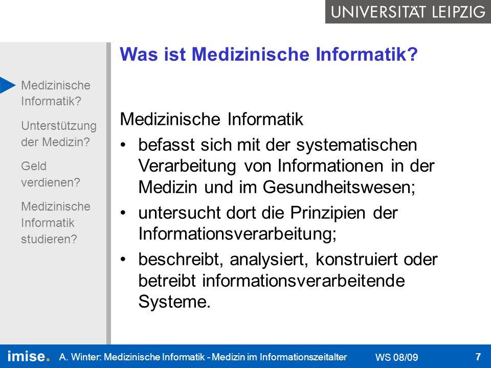 Was ist Medizinische Informatik