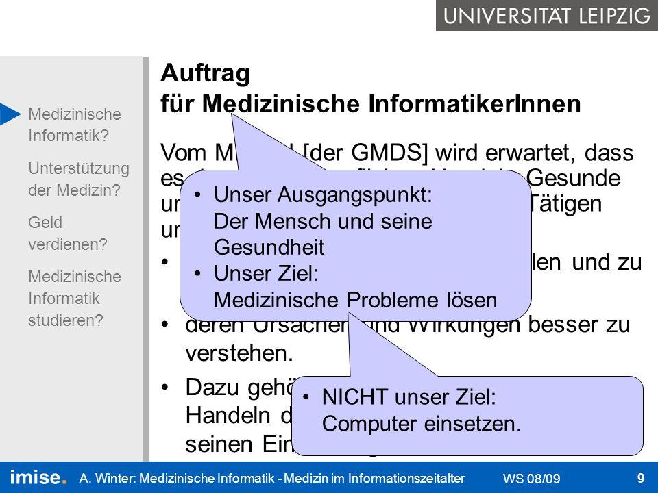 Auftrag für Medizinische InformatikerInnen