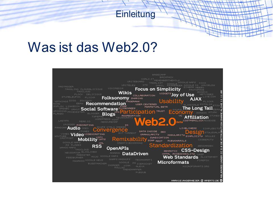 Was ist das Web2.0 Einleitung