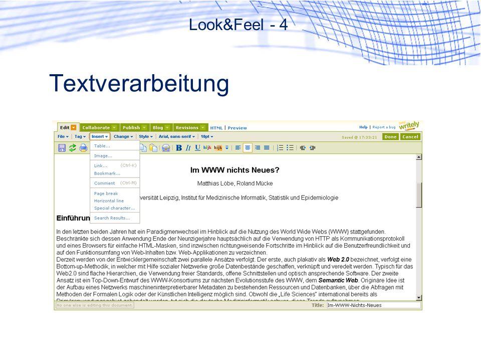 Textverarbeitung Look&Feel - 4
