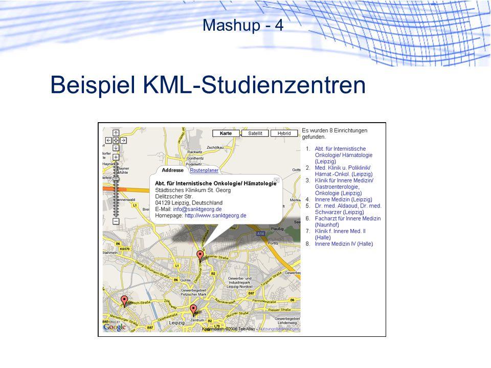 Beispiel KML-Studienzentren